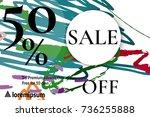sale advertisement banner with... | Shutterstock .eps vector #736255888