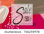 sale advertisement banner on... | Shutterstock .eps vector #736255978