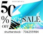 sale advertisement banner on... | Shutterstock .eps vector #736255984