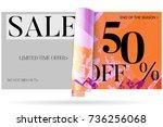 sale advertisement banner on... | Shutterstock .eps vector #736256068
