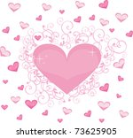 heart love | Shutterstock .eps vector #73625905