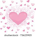heart love | Shutterstock .eps vector #73625905