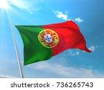 portugal flag | Shutterstock . vector #736265743