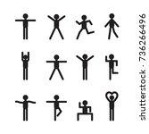 icon people  vector | Shutterstock .eps vector #736266496