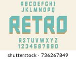 retro font decorative design... | Shutterstock .eps vector #736267849