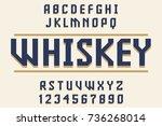 geometric decorative font... | Shutterstock .eps vector #736268014