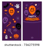mock up of the invitation to... | Shutterstock .eps vector #736275598