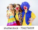 a portrait of a clown | Shutterstock . vector #736276039