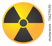 vector illustration toxic sign  ... | Shutterstock .eps vector #736279150