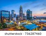 charlotte  north carolina  usa... | Shutterstock . vector #736287460