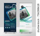business roll up design... | Shutterstock .eps vector #736288618