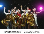new 2018 year is coming  group... | Shutterstock . vector #736292248