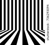 black and white striped... | Shutterstock .eps vector #736293094