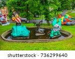 sweden  stockholm   june 13 ... | Shutterstock . vector #736299640