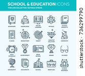 school education  university.... | Shutterstock .eps vector #736299790