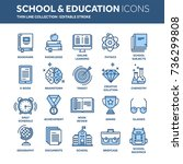 school education  university.... | Shutterstock .eps vector #736299808