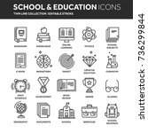 school education  university.... | Shutterstock .eps vector #736299844
