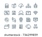 cloud omputing. internet... | Shutterstock .eps vector #736299859