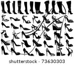 shoes and boots | Shutterstock .eps vector #73630303