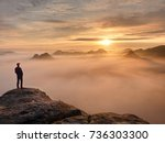 moment of loneliness on exposed ... | Shutterstock . vector #736303300