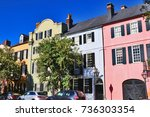 southern architecture... | Shutterstock . vector #736303354