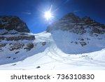 trekking in the mountains   Shutterstock . vector #736310830