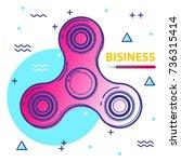 fidget spinner poster covers...   Shutterstock .eps vector #736315414