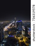Small photo of RIYADH - September 09, 2014: Panoramic view of Riyadh City, in view : Kingdom Tower : it is a Business and Shopping Building, and Ministry of Islamic affairs