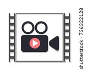 the video player icon. vector... | Shutterstock .eps vector #736322128
