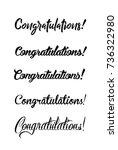 congratulations card.... | Shutterstock .eps vector #736322980