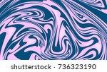 abstract background of liquid... | Shutterstock .eps vector #736323190