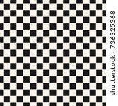 checkered geometric seamless... | Shutterstock .eps vector #736325368