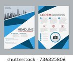 modern business two sided flyer ... | Shutterstock .eps vector #736325806