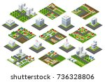 set of town district of the... | Shutterstock .eps vector #736328806