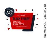 black friday sale label. stock... | Shutterstock .eps vector #736331713