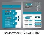 business flyer design template. ... | Shutterstock .eps vector #736333489