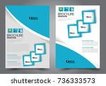 business flyer design template. ... | Shutterstock .eps vector #736333573