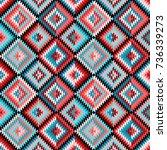 ethnic rhombus multicolor... | Shutterstock .eps vector #736339273