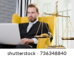 weight scale of justice  lawyer ...   Shutterstock . vector #736348840