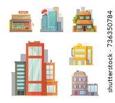 flat design of retro and modern ... | Shutterstock . vector #736350784