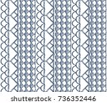 seamless lacy pattern texture.... | Shutterstock .eps vector #736352446