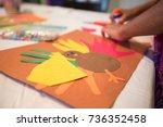 making a thanksgiving craft | Shutterstock . vector #736352458