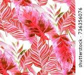 watercolor seamless pattern... | Shutterstock . vector #736356076