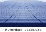facade of tall blue skyscraper  ... | Shutterstock . vector #736357159