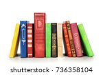 stack of books isolated on a... | Shutterstock . vector #736358104