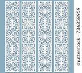 die and laser cut decorative... | Shutterstock .eps vector #736358959