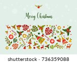 merry christmas illustration.... | Shutterstock .eps vector #736359088