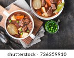 meat stew with beef  potato ... | Shutterstock . vector #736359910