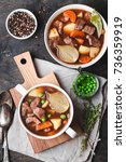 meat stew with beef  potato ... | Shutterstock . vector #736359919