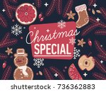 lovely detailed 'christmas... | Shutterstock .eps vector #736362883